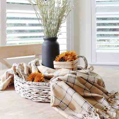 How To Make A Plaid Table Throw
