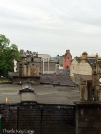Edinburgh rooftops and chimneys