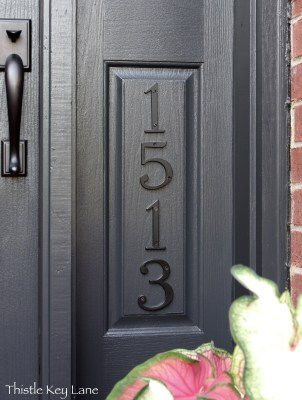 New house number added to the front door