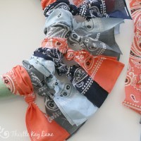 How To Make A Fall Bandana Wreath