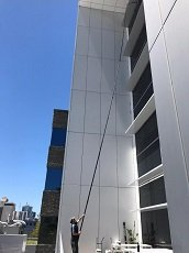 Long reach window cleaning Perth.