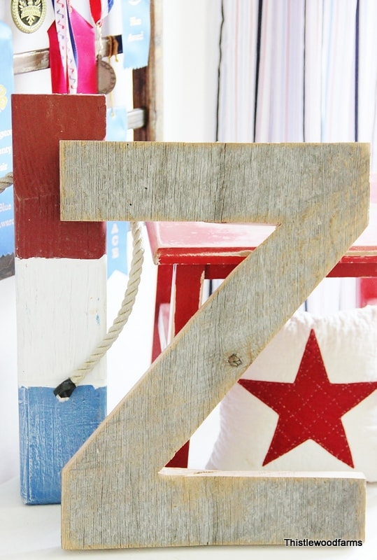 DIY barnwood letters project - make custom letters from old barnwood to decorate around your home