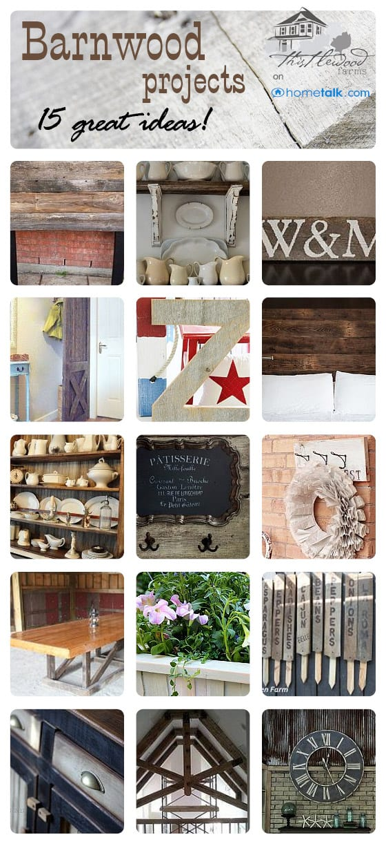 15 easy and fun DIY barnwood projects from Thistlewood Farms
