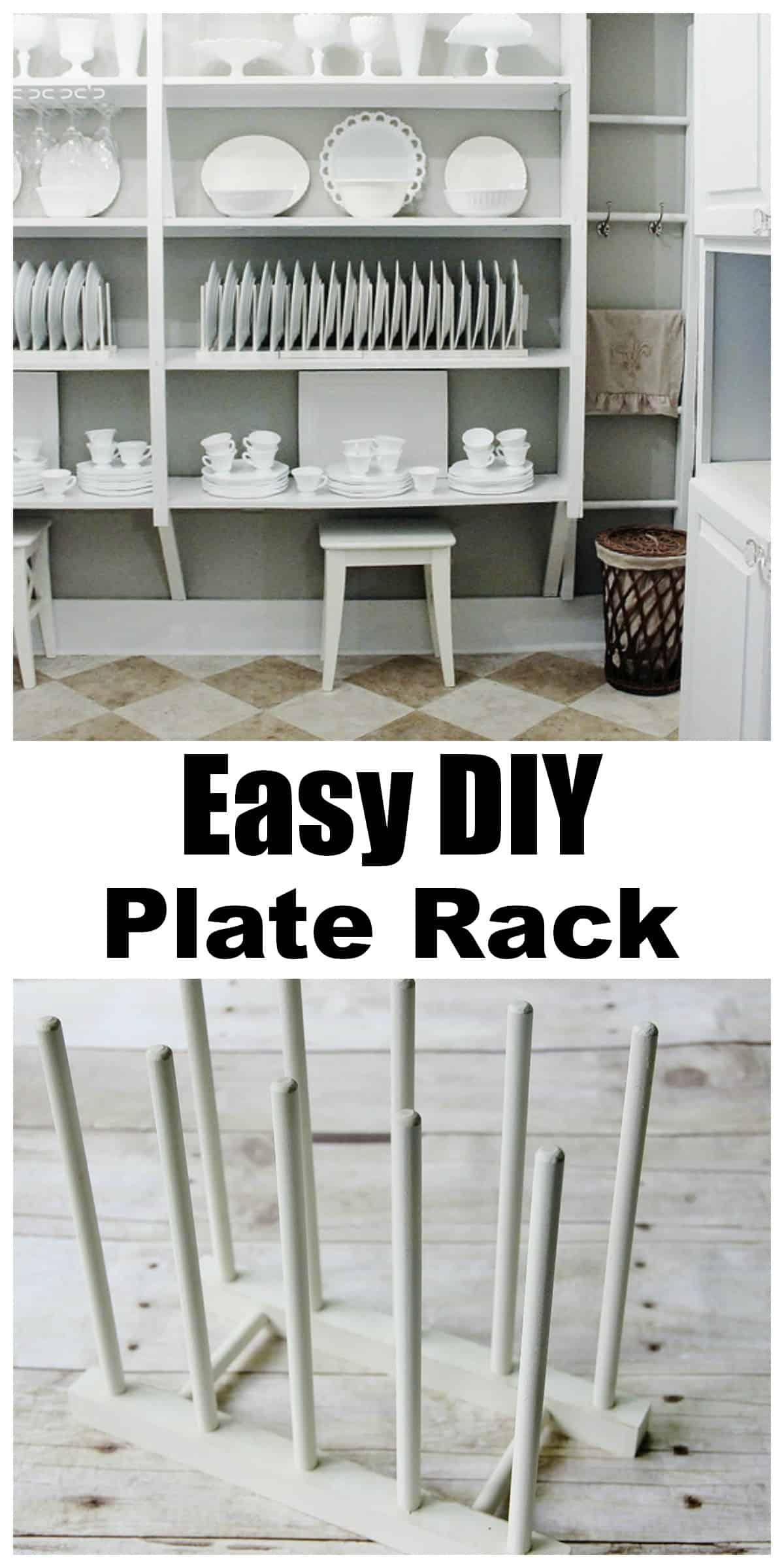 Easy DIY plate rack.