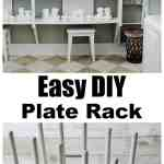 Easy To Make Diy Plate Display Rack Thistlewood Farms