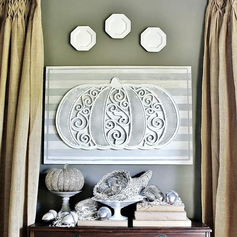 Turn a doormat into wall art