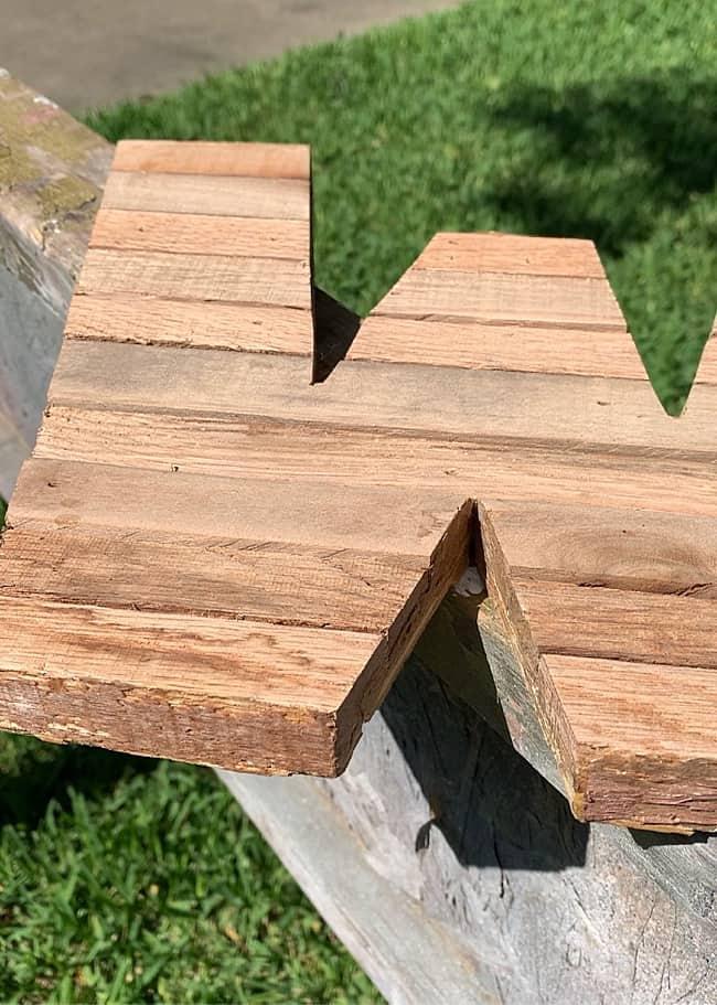 pallet wood letter cut out
