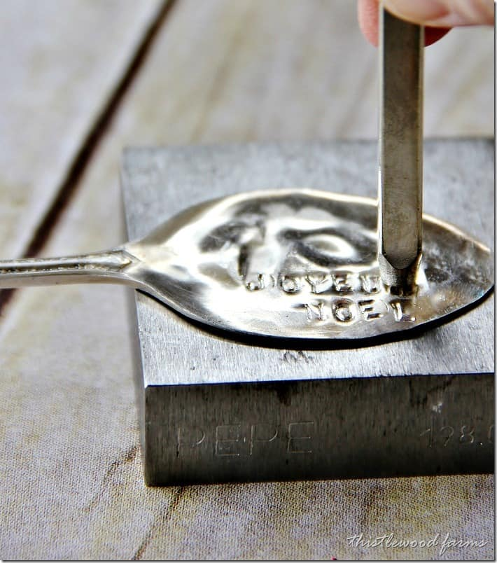 Making a spoon napkin ring