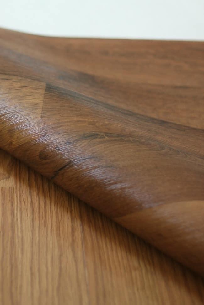 The secret is pre-cut sections of linoleum