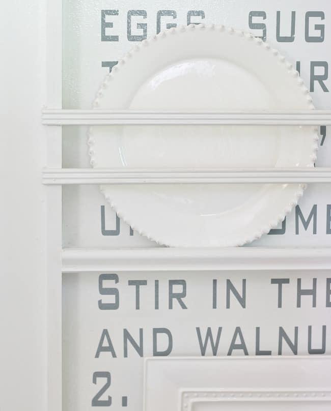 plate on shelf