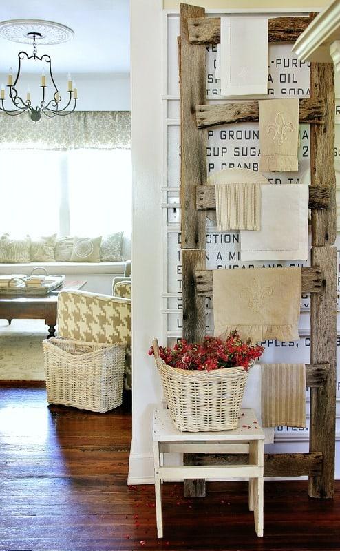barn wood ladder decorating ideas