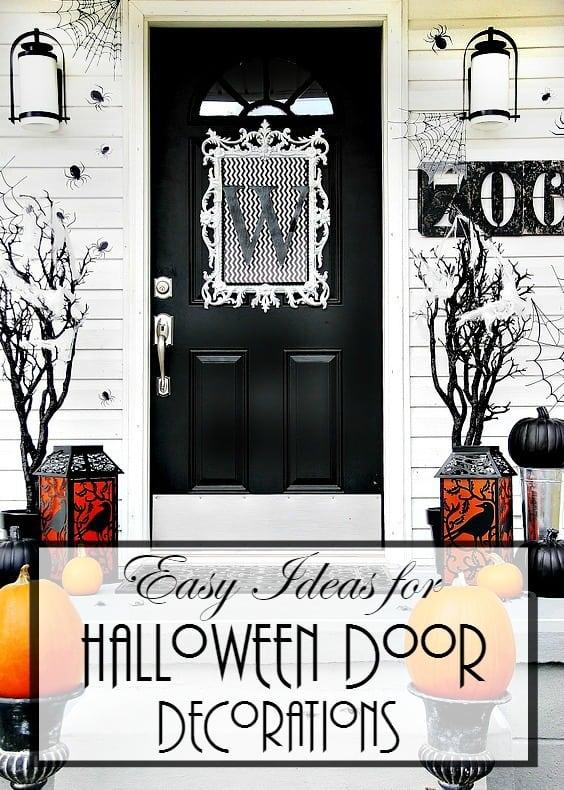 easy ideas for Halloween door decorations