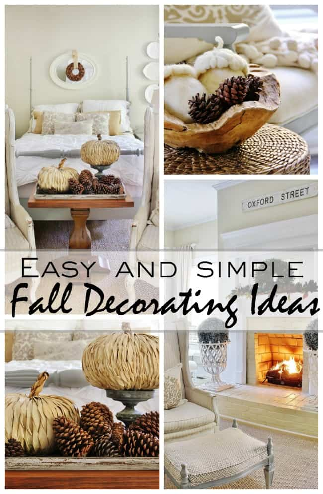 easy and simple fall decorating ideas