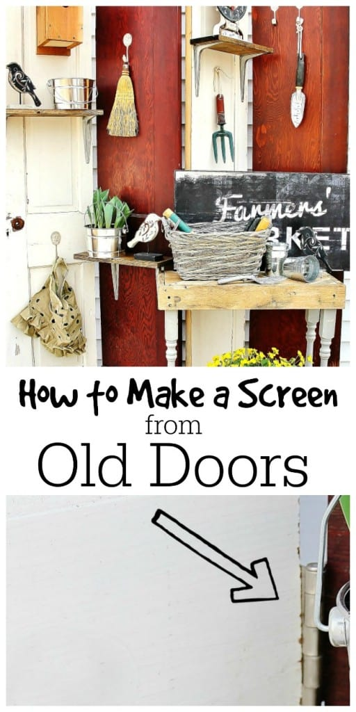 How to Make a Screen from Old Doors