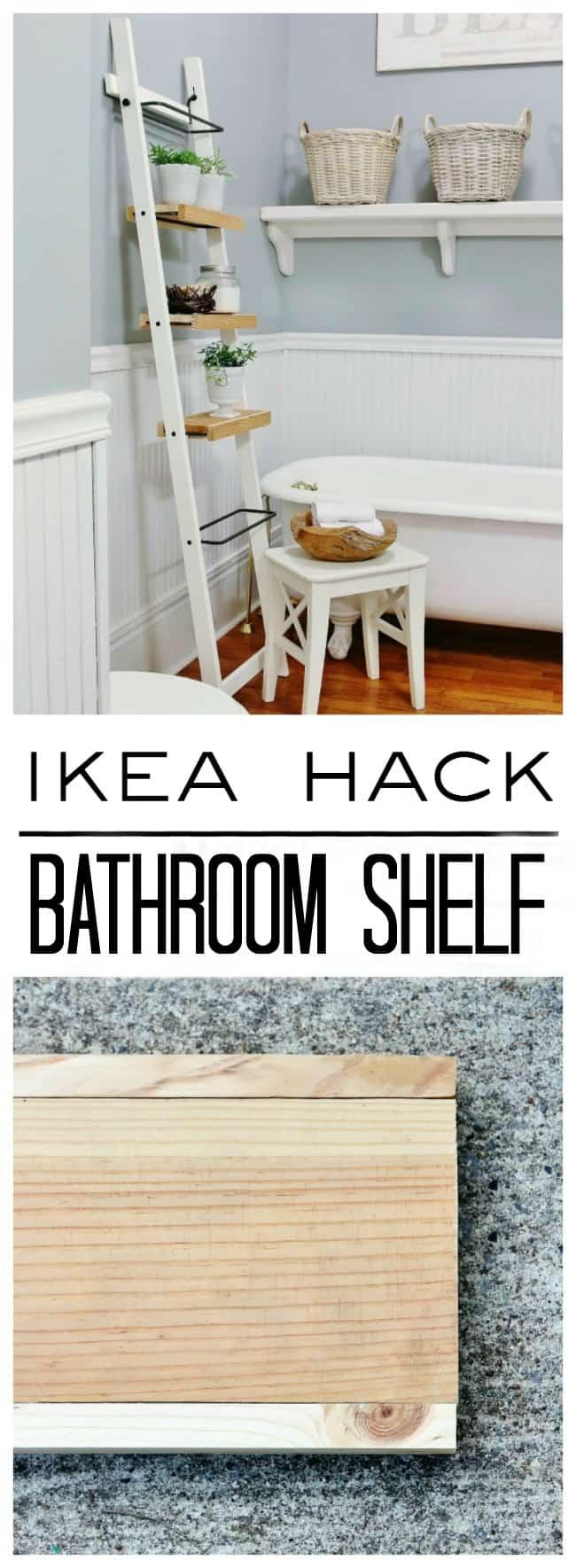 Diy Ikea Bathroom Shelf Hack Thistlewood Farm