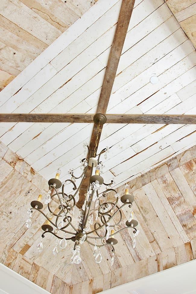 modern farmhouse barn wood ceiling