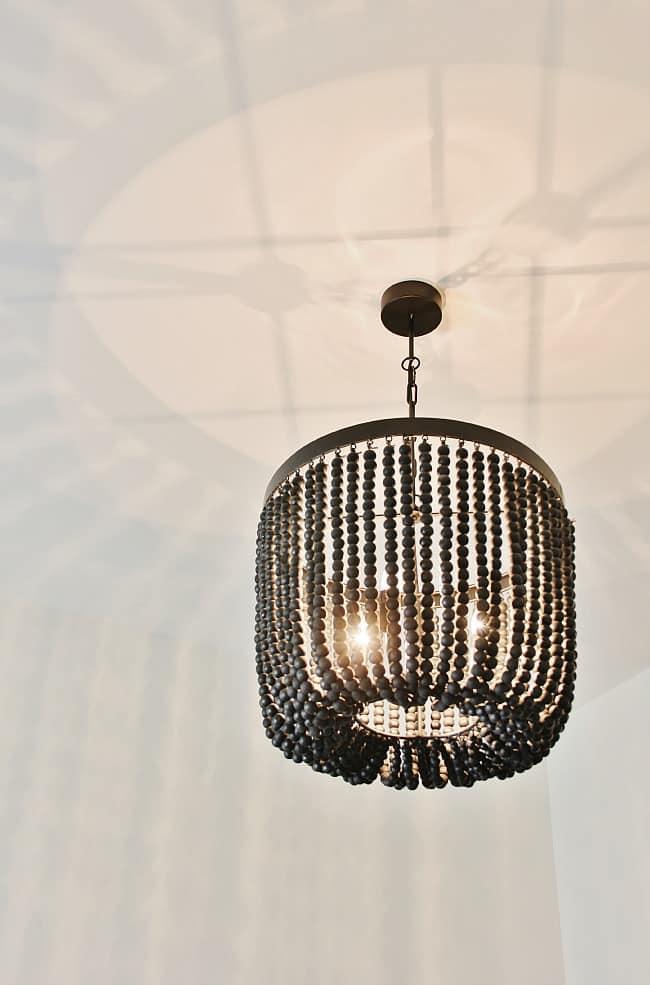 bead chandelier