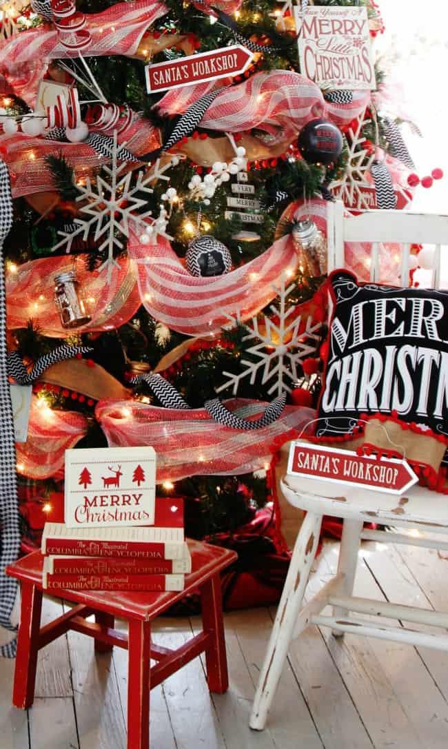 Christmas tree upstairs