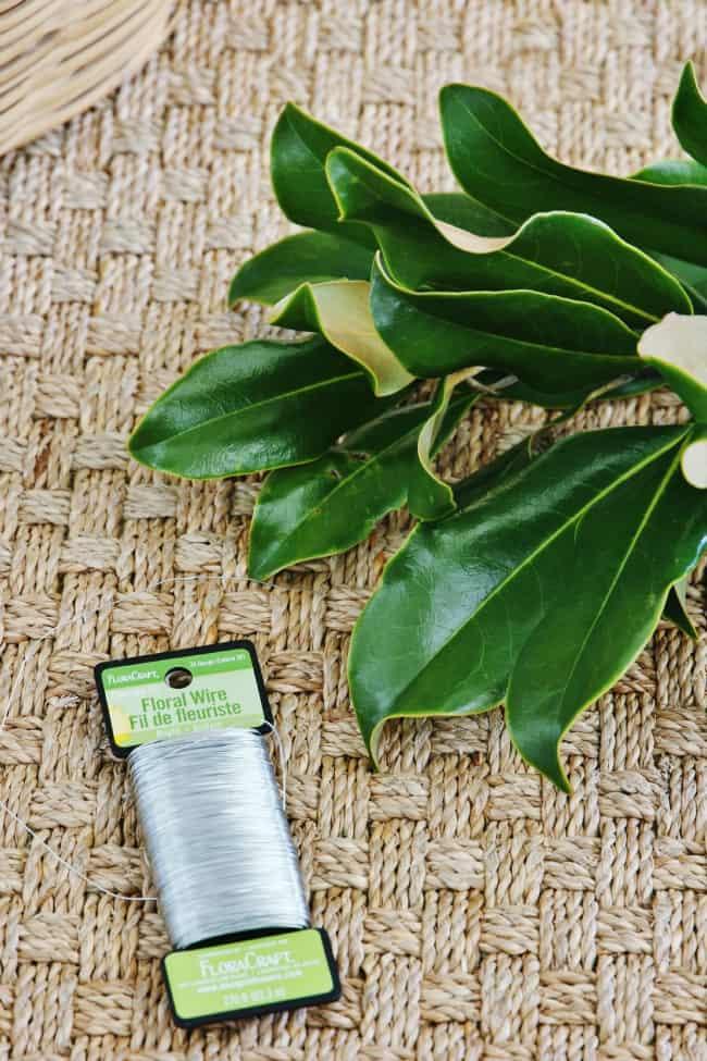 Magnolia leaf garland supplies