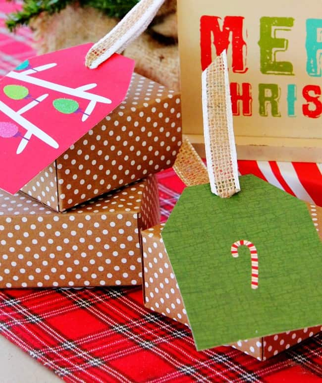 Christmas card project tags