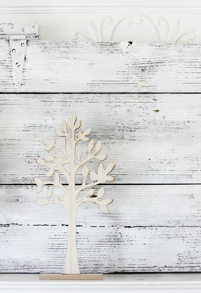Add these trees in for your spring mantel