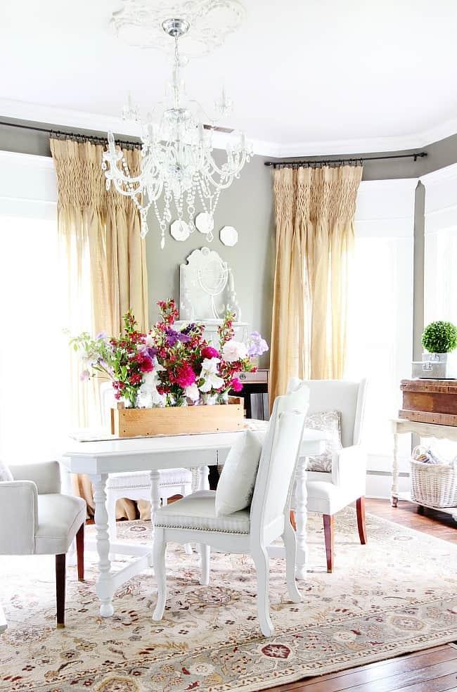 dining room garden centerpiece