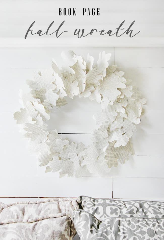 diy-book-page-fall-wreath