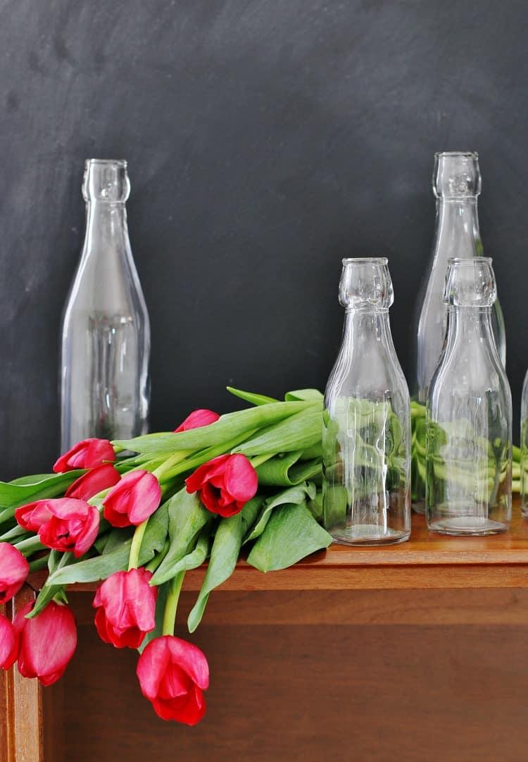 spring mantel ideas flower arrangement
