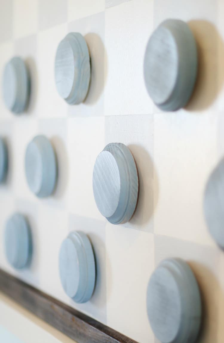 Here's an easy to make wall checkerboard