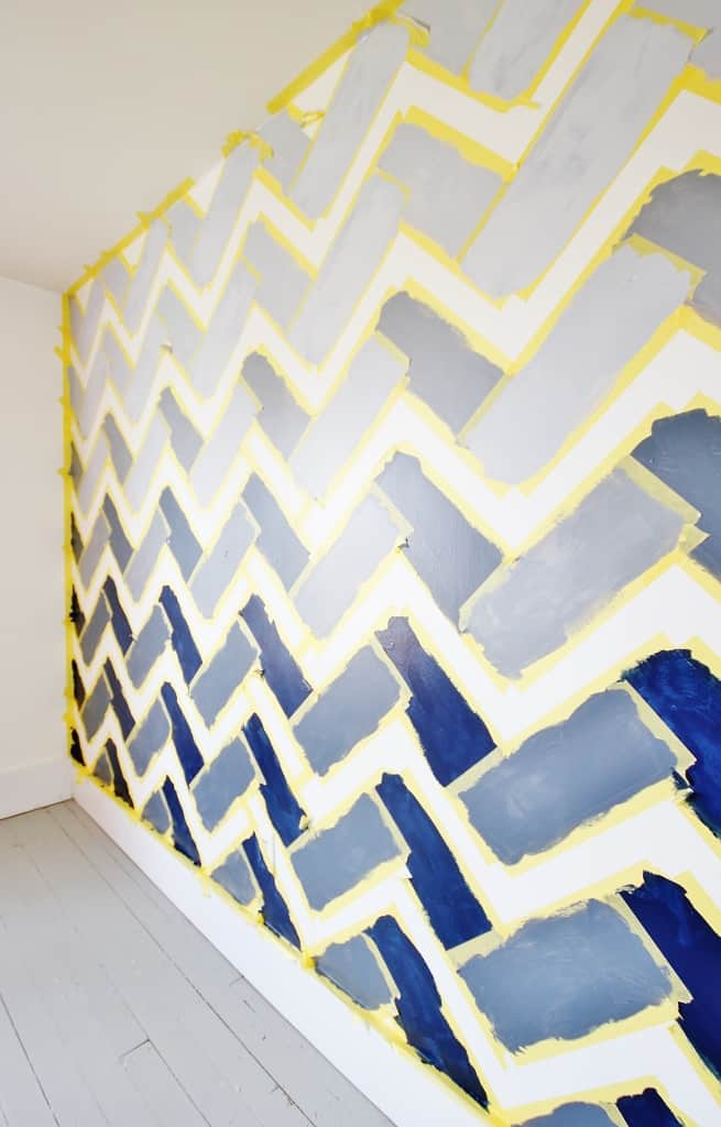Layering colors on the ombre wall
