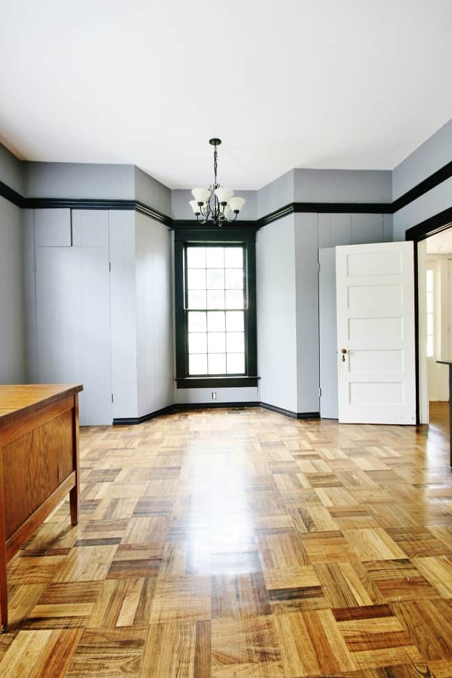 A view of the office and gorgeous floors