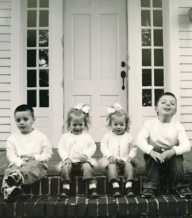 Taking a trip down memory lane with a photo of my four kids