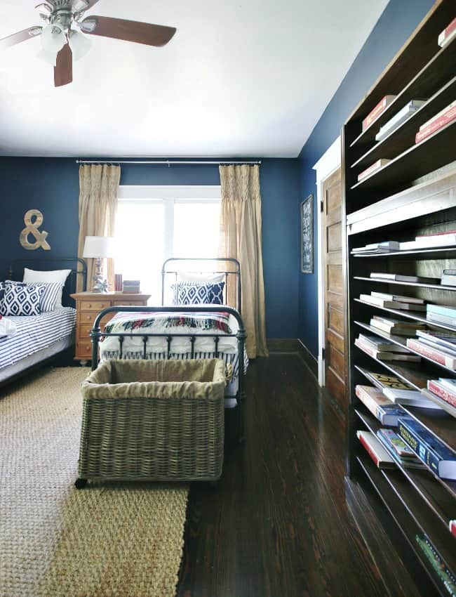 The boy's navy room came out beautifully