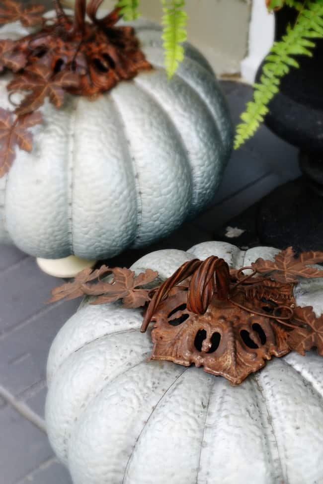 favorite faux pumpkins metal