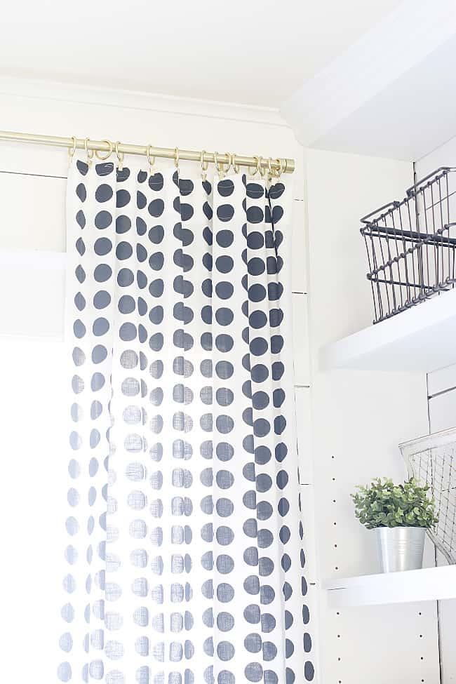 black and white decor ideas curtain
