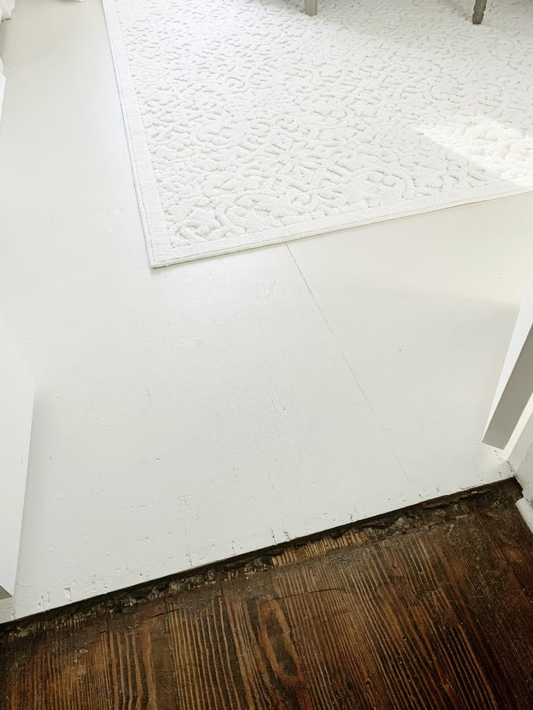 painted plywood floors area rug