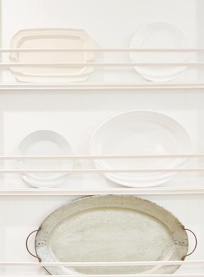 how to update a kitchen on a budget plate rack