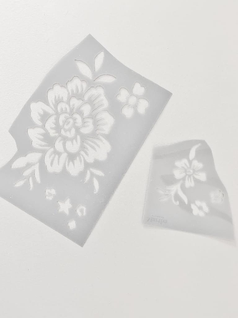how to stencil wood mini stencil