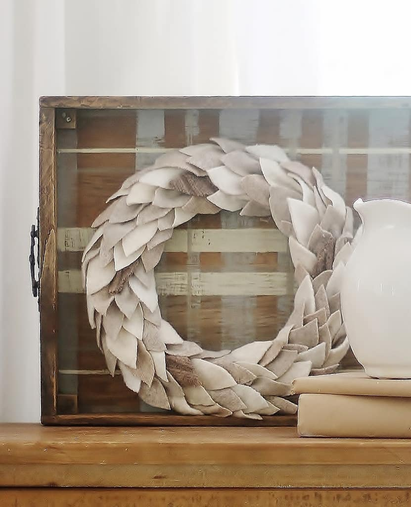 how to felt wool how to make a wreath