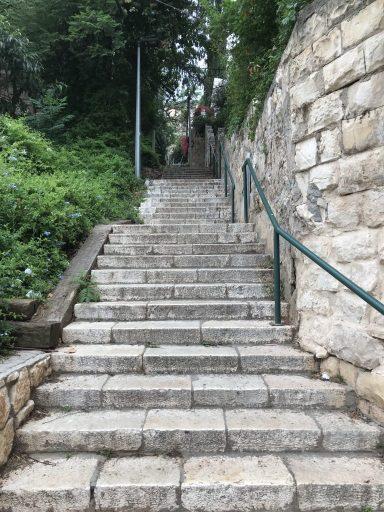 Steps from Hillel Street in Haifa