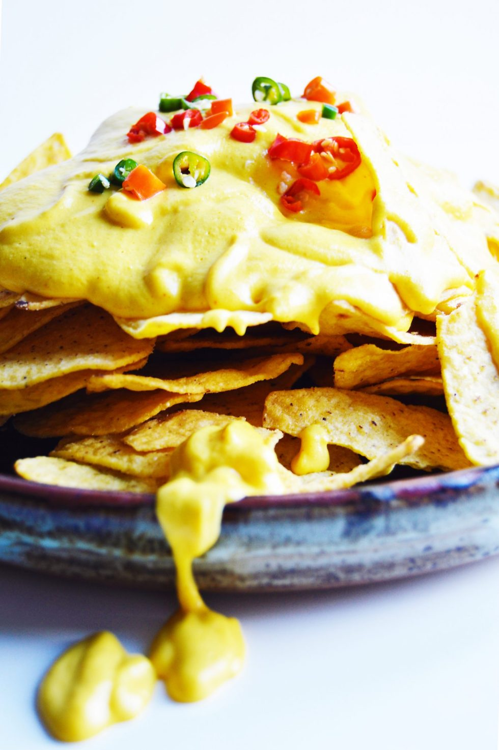 Healthy Vegan Nacho Cheesy Sauce