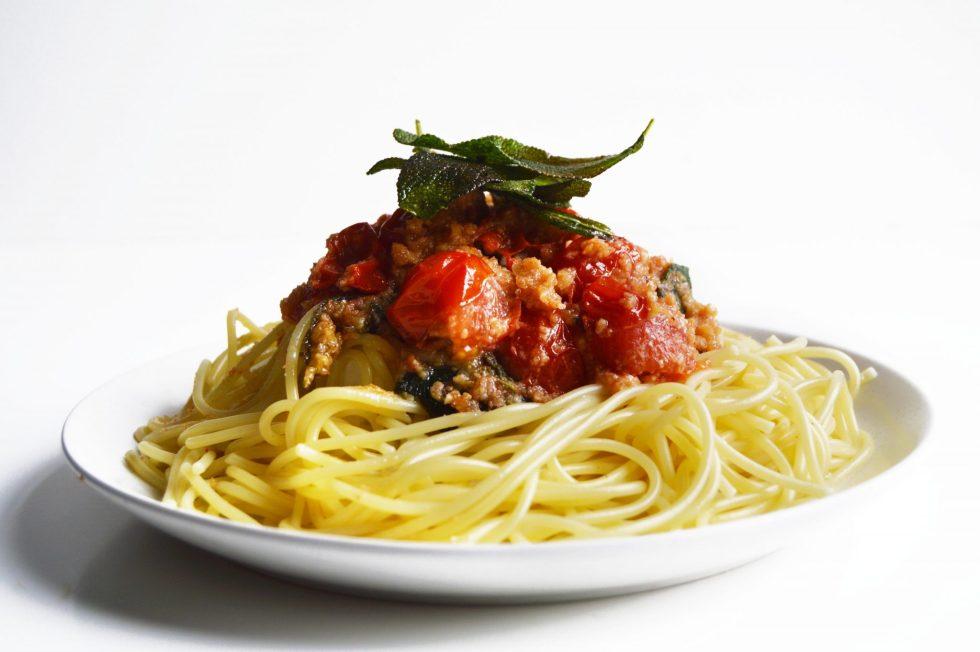 Vegan Tomato Sage Pasta