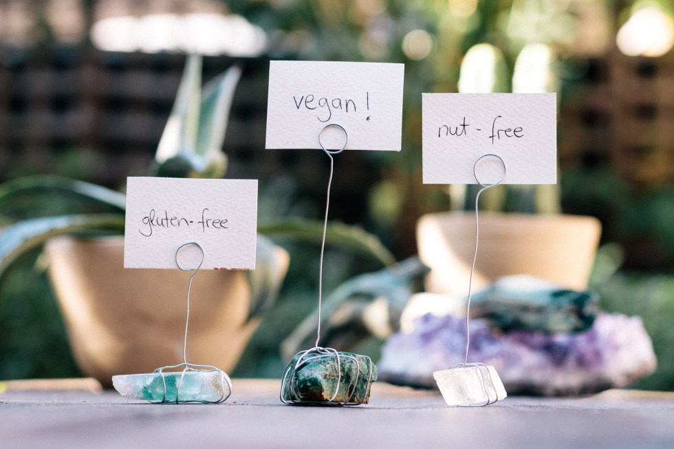 Diy Crystal Place Card Or Food Label Holders This Vibrant