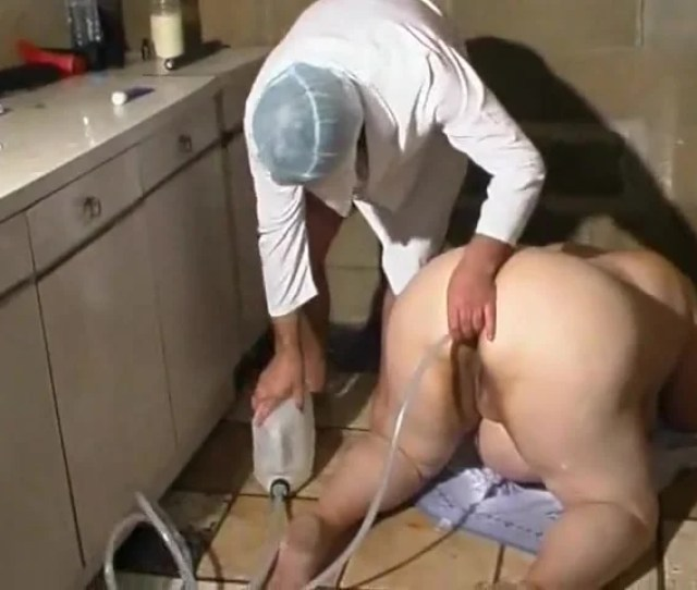 Fat Woman Gets An Enema And A Doggystyle Fuck