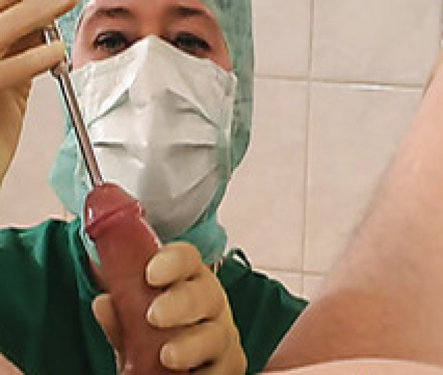 Nurse Sounding His Urethra And Jerking Him Off