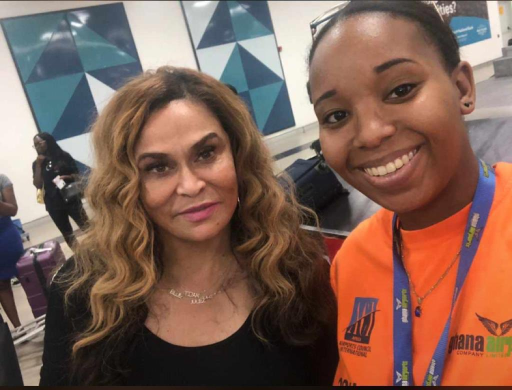 Tina Knowles spotted in Ghana