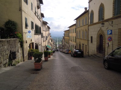 main road into Anghiari..and - literally - straight on to San Sepolcro!