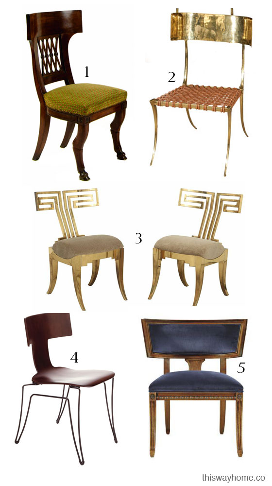 greek style chairs  Loris Decoration