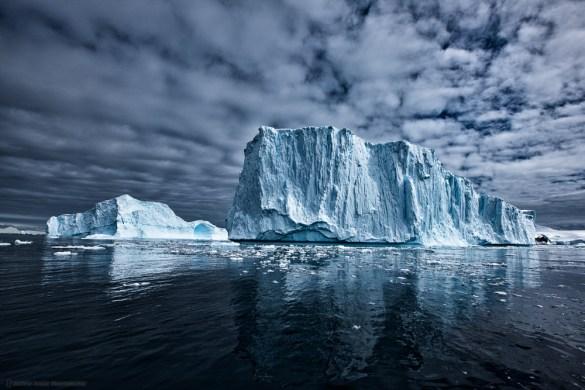 Monumental Icebergs at Cierva Cove, Antarctica. ©Martin Bailey