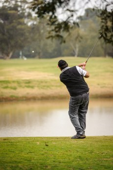 ©KenLyons - A golfer taking part in an Ambrose golf fund raising day at Kapunda Golf Club